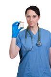 El doctor Holding Pills Foto de archivo libre de regalías