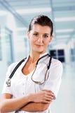 El doctor At The Hospital de la mujer Imagen de archivo libre de regalías