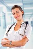 El doctor At The Hospital de la mujer Fotos de archivo