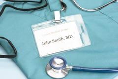 El doctor ID Foto de archivo libre de regalías