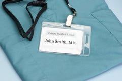 El doctor ID Fotografía de archivo libre de regalías
