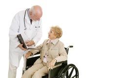 El doctor Patient Consultation Imagenes de archivo
