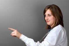 El doctor Pointing Left Imágenes de archivo libres de regalías