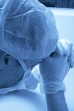 El doctor Praying de la cirugía Foto de archivo