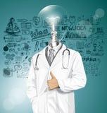 El doctor With Stethoscope del vector Fotos de archivo