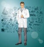 El doctor With Stethoscope del vector Fotografía de archivo