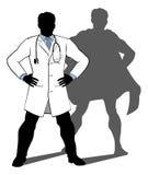 El doctor Super Hero Silhouette Imagen de archivo libre de regalías