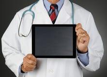 El doctor Tablet Chalkboard Screen Fotografía de archivo