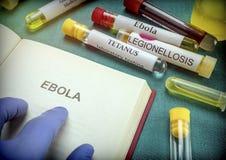 El doctor Take Open Book de Ebola Fotografía de archivo libre de regalías