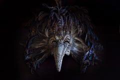 El doctor Venetian Mask de la plaga del carnaval con las plumas coloreadas Imagen de archivo libre de regalías