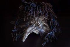 El doctor Venetian Mask de la plaga del carnaval con las plumas coloreadas Fotos de archivo