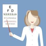 El doctor Woman Ophthalmologist Fotografía de archivo