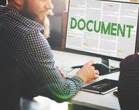 El documento forma concepto administrativo de las notas de las letras fotografía de archivo libre de regalías