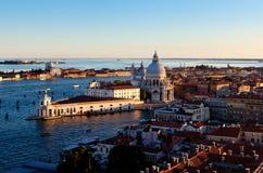 El dogana DA del della de Punta estropea, Venecia, Italia Imagenes de archivo