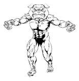 El dogo se divierte la mascota Imagen de archivo
