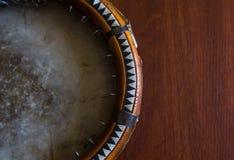 El doira tradicional del instrumento musical del uzbek, Foto de archivo