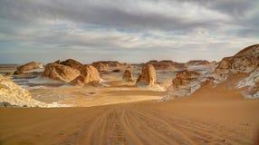 el dolina w biel pustyni, Sahara, Egipt Zdjęcia Stock
