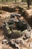 El dolmen hace la opinión de la parte posterior de Rapido Esposende, Portugal Imagen de archivo