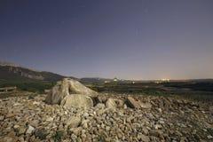 El dolmen nombró a Alto de la Huesera, en Laguardia, Alava, España foto de archivo libre de regalías