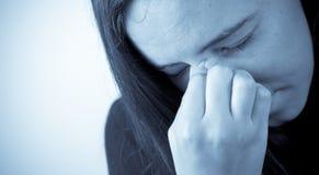 El dolor de alergias Foto de archivo libre de regalías