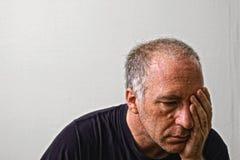 El dolor de cabeza Imagen de archivo libre de regalías