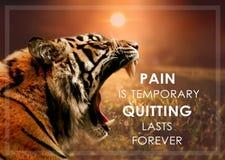 El dolor es solamente temporal, abandonando por último para siempre Imagenes de archivo