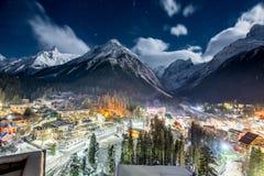 El Dombay en la noche Imágenes de archivo libres de regalías