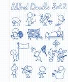 El Doodle de Alfred fijó 2 stock de ilustración