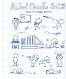 El Doodle de Alfred fijó 5 Imágenes de archivo libres de regalías