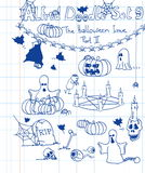 El Doodle de Alfred fijó 9 Imagenes de archivo