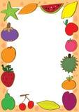 El Doodle de las frutas fija el marco Foto de archivo libre de regalías