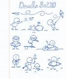 El Doodle fijó 20 Foto de archivo libre de regalías
