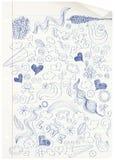 El Doodling en la escuela. libre illustration