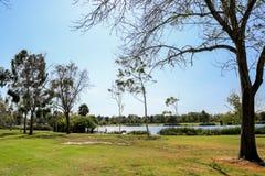 El Dorado East Regional Park. Peaceful afternoon at El Dorado East Regional Park, Long Beach California Royalty Free Stock Image