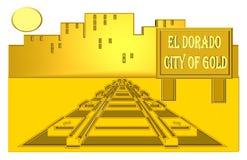 El Dorado- staden av guld stock illustrationer