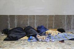 El dormir adentro al aire libre Fotografía de archivo