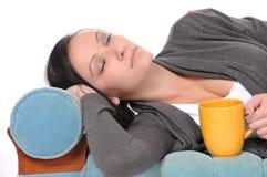 El dormir adolescente Fotos de archivo libres de regalías