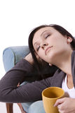 El dormir adolescente lindo de la muchacha Fotos de archivo libres de regalías