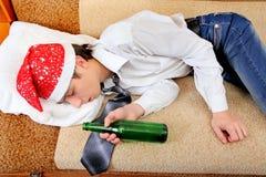 El dormir borracho del adolescente Fotos de archivo libres de regalías