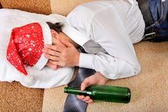 El dormir borracho del adolescente Imagenes de archivo