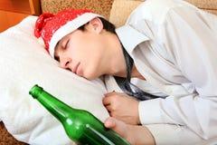 El dormir borracho del adolescente Imagen de archivo libre de regalías