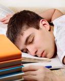 El dormir cansado del adolescente Imagen de archivo libre de regalías