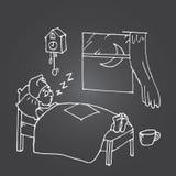 El dormir cansado del hombre Imágenes de archivo libres de regalías