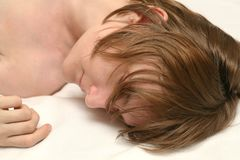 El dormir de la muchacha Fotografía de archivo