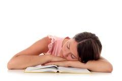 El dormir de la muchacha Imagen de archivo libre de regalías