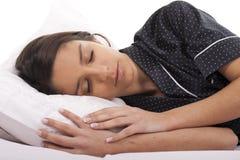 El dormir de la mujer Imagenes de archivo