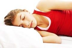 El dormir de la mujer Fotos de archivo libres de regalías