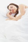 El dormir de la mujer Imagen de archivo
