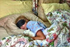El dormir de la niña Fotografía de archivo
