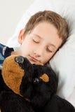 El dormir de Little Boy Imagen de archivo libre de regalías